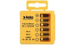 Набор бит ударных PZ/PH/Tx Impact 50 мм в кейсе, 6 шт Felo 036 925 46, , 2840 руб., 03692546, , Наборы бит