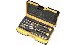 """Набор метрических головок с трещоткой и отверткой 1/4"""" ERGONIC в кейсе, 19 шт FELO 057 819 56, , 6890 руб., 05781956, , Специальный инструмент"""