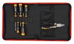 Набор отверток Ergonic SL, PH, PZ с пассатижами 180 мм FELO 400 966 04
