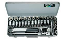 фото Комбинированные набор HEYCO 77-30-M с торцевыми головками и отвёрточными насадками HE-00077300083 (HE-00077300083])