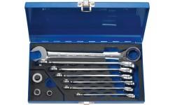 Набор из 10 комбинированных гаечных ключей с трещоткой HEYTEC HE-50725600580