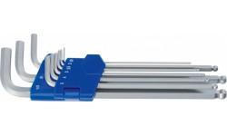 Набор длинных Г-образных ключей с шариковой головкой HEYCO HE-50813448280
