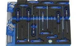 Набор инструмента, 435 x 340 x 35 мм 35 предметов HEYCO HE-50829005500