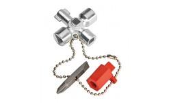 фото Ключ для электрошкафов KNIPEX 00 11 02, укороченная конструкция KN-001102 (KN-001102])