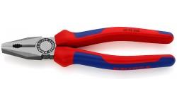фото Плоскогубцы KNIPEX 03 02 200, комбинированные, двухкомпонентные чехлы, 200 мм KN-0302200 (KN-0302200])