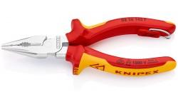 Пассатижи KNIPEX 08 26 145, удлиненные, электроизолированные VDE 1000V, со страховочной петлёй, 145 мм KN-0826145T