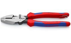 Lineman's Pliers плоскогубцы электромонт., протяжка и обжим, рез: провол. ср. ?4.6мм, твёрд. ?3мм, L-240 мм, чёрн., 2-к ручки, страх. крепл., блист.