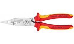 Многофункциональные клещи для электромонтажных работ KNIPEX 13 86 200, диэлектрические VDE 1000V, рез кабеля до ? 15 мм, зачистка до 0.75 - 1.5 / 2.5 мм? KN-1386200