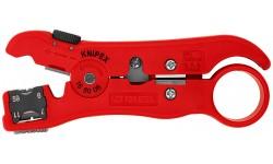 Стриппер KNIPEX 16 60 06SB, для коаксиального и дата-кабеля 125 mm KN-166006SB