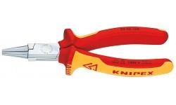 Круглогубцы KNIPEX 22 06 160, хромированные, диэлектрические VDE 1000V, 160 мм KN-2206160