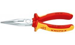 Длинногубцы KNIPEX 25 06 160, хромированные, диэлектрические VDE 1000V, 160 мм KN-2506160