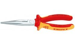 Длинногубцы KNIPEX 26 16 200, хромированные, диэлектрические VDE 1000V, 200 мм KN-2616200