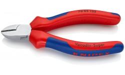 Бокорезы KNIPEX 70 05 125, хромированные, двухкомпонентные чехлы, 125 мм KN-7005125