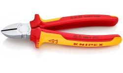 Бокорезы KNIPEX 70 06 180, диэлектрические VDE 1000V, хромированные,180 мм KN-7006180