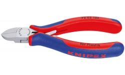 Бокорезы KNIPEX 72 02 180, для пластика, рез без фаски, 125 мм KN-7202125