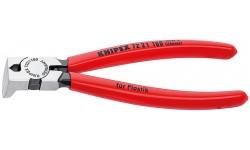 Бокорезы KNIPEX 72 21 160, для пластика, рез без фаски, угол ?85°, 160 мм KN-7221160
