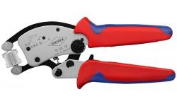 KNIPEX Twistor16 пресс-клещи, квадрат. обжим, самонастр., поворот. головка,гильзы контакт:0.14-16.0 мм?,2-е конц.гильзы 2x6мм?,L-200 мм,хром,держатель