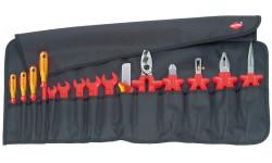 фото Планшет для инструмента мягкий, 15 предм., с инструментами электроизолированными 98 99 13 (KN-989913])