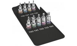 WE-004202 — Набор головок битов WERA Zyklop 8767 C TORX HF 1, с фиксирующей функцией, 9 предметов