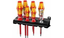 WE-006147 — Набор диэлектрических отвёрток WERA 160 i/7 1000V с шлиц и Phillips, лазерная насечка, 7 предметов