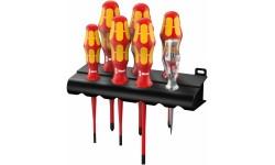 WE-006480 — Набор диэлектрических отвёрток WERA 160 iS/7 с тонким жалом, 7 деталь