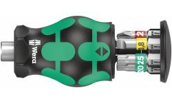 Kraftform Kompakt Stubby Magazin 1 короткая ручка-битодержатель с битами, 6 предметов, PH 1/2; TORX® TX 15/20/25; SL 0.8 x 5.5