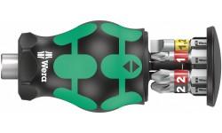 Kraftform Kompakt Stubby Magazin 2 короткая ручка-битодержатель с битами, 6 предметов, SL: 0.8x5.5/1.2x6.5, PH 1/2, PZ 1/2