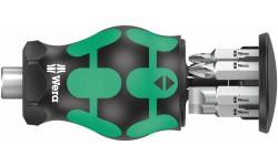 Kraftform Kompakt Stubby Magazin 4 короткая ручка-битодержатель с битами, 6 предметов, PH 1/2/3, SL 0.6x4.5/1.0x5.5/1.2x6.5