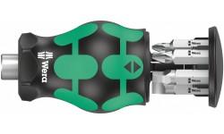 Kraftform Kompakt Stubby Magazin 5 короткая ручка-битодержатель с битами, 6 предметов, SL 1.0x5.5/1.2x6.5; PH 1/2; Roberston: # 1/# 2