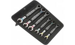 фото WE-020022 — Набор двусторонних рожковых / комбинированных ключей с храповым механизмом Joker, 6 деталь (WE-020022])