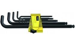 WE-021728 — Набор шестигранных ключей WERA 950 PKL/13 SZ N, дюймовых, BlackLaser, 13 предметов