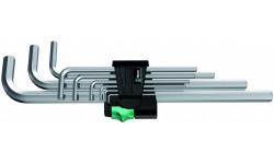 WE-021909 — Набор шестигранных ключей WERA 950 L/9 SM N, метрических, хромированных, 9 предметов