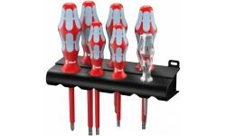 WE-022728 — Набор диэлектрических отвёрток WERA 3160 i/7 нержавейка шлиц и Phillips, 7 предметов