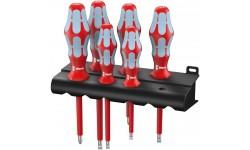 WE-022745 — Набор диэлектрических отвёрток WERA 3165 i/6 нержавейка шлиц и Pozidriv, 6 предметов