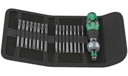фото WE-051040 — Набор бит 89мм. в поясной сумке и реверсной ручкой-держателем WERA Kraftform Kompakt 60 RA, 17 предметов (WE-051040])