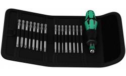 фото WE-051042 — Набор бит 89мм. в поясной сумке и ручкой-держателем с патроном Rapidaptor WERA Kraftform Kompakt 60 RA Imperial, 17 предметов (WE-051042])