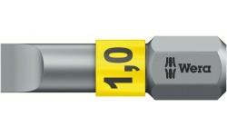 WE-056066 — Бита шлицевая WERA 800/1 BTZ BiTorsion, 1.0 x 5.5 x 25 mm