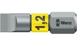 WE-056068 — Бита шлицевая WERA 800/1 BTZ BiTorsion, 1.2 x 6.5 x 25 mm