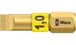 WE-056174 — Бита шлицевая с алмазным покрытием WERA 800/1 BDC, BiTorsion,, 1.0 x 5.5 x 25 mm