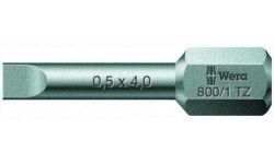 WE-056203 — Бита шлицевая с закалкой до вязкой твёрдости с амортизационной зоной Torsion, WERA 800/1 TZ, 0.5 x 4.0 x 25 mm