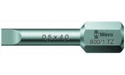 WE-056233 — Бита шлицевая с закалкой до вязкой твёрдости с амортизационной зоной Torsion, WERA, 1.2 x 6.5 x 25 mm