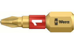 WE-056400 — Бита крестовая Phillips с алмазным напылением WERA 851/1 BDC, PH 1 x 25 mm