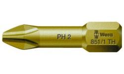 WE-056610 — Бита крестовая Phillips особо твёрдая с зоной кручения Torsion WERA 851/1 TH, PH 2 x 25 mm