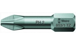 WE-056660 — Бита крестовая Phillips с противоскользящей насечкой WERA 853/1 TZ, ACR®, PH 1 x 25 mm