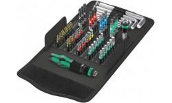 фото WE-057460 — Набор бит универсальный WERA Kraftform Kompakt 100, 52 предмета (WE-057460])