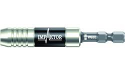 WE-057675 — Битодержатель ударный с пружинным стопорным кольцом и магнитом WERA 897/4 IMP, 1/4 дюйм x 75 mm