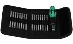 фото WE-059295 — Отвёртка WERA Kraftform Kompakt 60 со сменными наконечниками в набедренной сумке, 17 предметов (WE-059295])