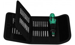 фото WE-059297 — Отвёртка WERA Kraftform Kompakt 62 со сменными наконечниками в набедренной сумке, 33 предмета (WE-059297])