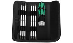 фото WE-073665 — Отвёртка WERA Kraftform Kompakt Vario RA SB реверсивная со со сменными наконечниками в набедренной сумке, 7 предметов (WE-073665])