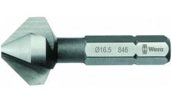 WE-104630 — Зенкер конический WERA 846 90° с 3 канавками, 6.3 mm